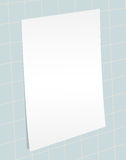 Blank paper template vector Royalty Free Stock Photography
