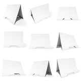 Blank paper tent card. 3d render. Royalty Free Stock Image