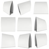Blank paper tent card. 3d render. Stock Images