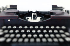 Blank paper in typewriter machine Stock Photography