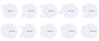 Blank paper,123,Vector. Blank paper,123, for your text ,Vector stock illustration