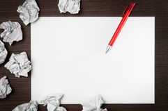 Blank paper waiting for idea Royalty Free Stock Photography