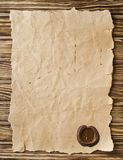 Blank paper with wax seal Stock Images