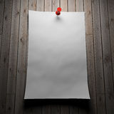 Blank paper on wood Royalty Free Stock Images