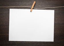 Blank paper on wood Stock Image