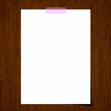 Blank paper on wood Royalty Free Stock Photos
