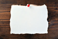 Blank paper on wood Stock Photography