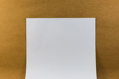 Blank paper on wood paper background texture vintage Royalty Free Stock Images
