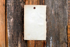Blank paper on wooden background Royalty Free Stock Image