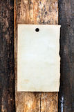 Blank paper on wooden background Royalty Free Stock Photography