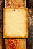 Blank paper on wooden background Stock Images