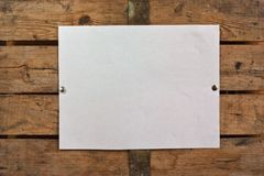 Blank paper on wooden background Stock Photography