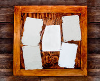 Blank paper on wooden board Royalty Free Stock Images