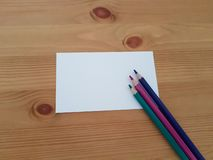 Blank Paper With Writing and Drawing Tools, School and Office Supplies, Back to School, stock photo