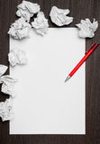 Blank paper writing idea Stock Image
