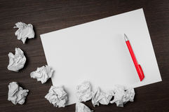 Blank paper writing idea Royalty Free Stock Image