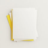 Blank Papers Royalty Free Stock Photography