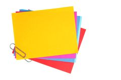 Blank papers with clip Royalty Free Stock Images