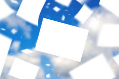 Blank Papers Floating in the Wind Stock Image