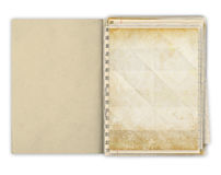 Blank papers in an hand made book Royalty Free Stock Photos