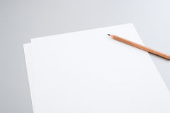 Blank papers Stock Images