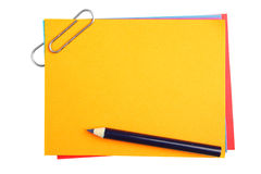 Blank Papers With Clip Royalty Free Stock Image