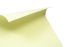 Blank papery sheet Stock Photo