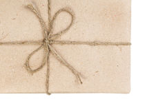 Blank parcel corner with bow Stock Images