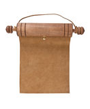 Blank parchment manuscript in a wooden case Royalty Free Stock Image