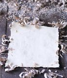 Blank parchment. Royalty Free Stock Photo
