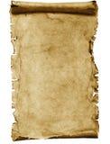Blank parchmentscroll Arkivfoto