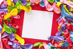 Blank party invitation. Colorful party invitation with copy space Stock Photo