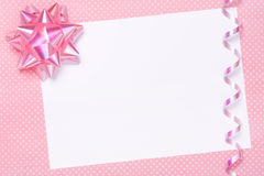 Blank party invite or gift tag Stock Photography