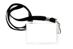 Blank Pass on Lanyard Stock Image