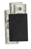 Blank Passport Cover with US Currency Royalty Free Stock Photo
