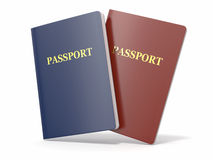 Blank passport on white isolated background Royalty Free Stock Image