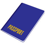Blank passports identity document Royalty Free Stock Photo
