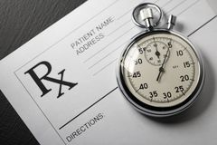 Blank patient list and stopwatch Royalty Free Stock Images