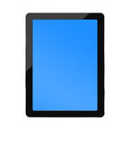 Blank PC tablet with two clipping paths Stock Photography