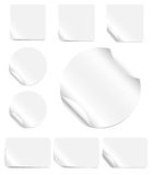 Blank Peeling Stickers Stock Images