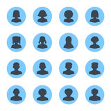Blank People Avatars - Dot Version Royalty Free Stock Image