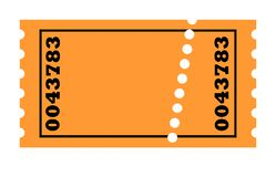 Blank Perforated ticket Royalty Free Stock Image