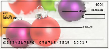 Blank Personal Check For Christmas Stock Photography