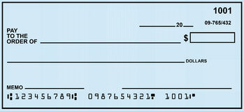 Blank Personal Check Royalty Free Stock Images