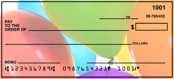 Blank Personal Check. With a variety of backgrounds.  Easy to drop in your own text Royalty Free Stock Photography
