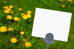 Blank Pesticide Lawn sign Stock Photo