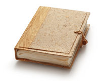 Blank photo album with wooden cover Stock Images