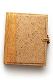 Blank photo album with wooden cover Royalty Free Stock Photography