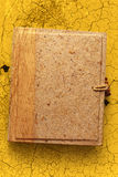 Blank photo album with wooden cover Stock Photo