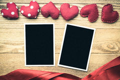 Blank photo card Stock Images